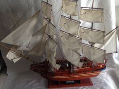 Great Galleon in wood all handcrafted and soldiers 1.10 x 95