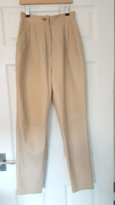 Superb Valentino Leather Trousers