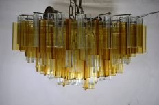 Venini - chandelier with trefoil crystals