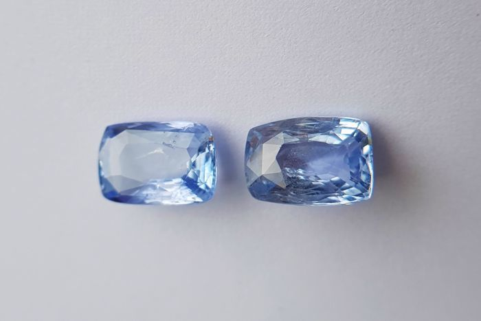 Pair of Sapphires - 8.32 ct - No Reserve