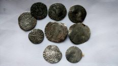 United Kingdom - Lot various hammered coins (9 pieces)