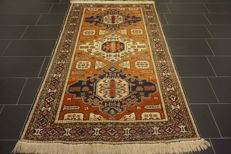 Collector's item, old antique hand-knotted oriental carpet, Kazak, 140 x 220 cm, Tapijt Tappeto Tapis Carpet Old Rug