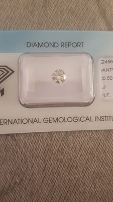0.50 carat IGI brilliant diamond