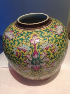 Yellow ginger jar - China - 19th century