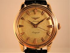 Longines Conquest Automatic Ref. 9001 - 18 kt gold - men's - year 1955
