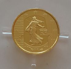 France - 5 Euro 2008 '5th Republic 50th Anniversary - Sower' - 1/25 oz Gold
