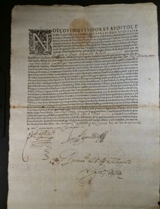 Spanish Inquisition; Printed and handwritten document, it's an appointment as familiar of the Holy Office - 1618