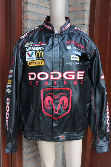 100% leather Dodge / Nascar men's jacket - Size : M
