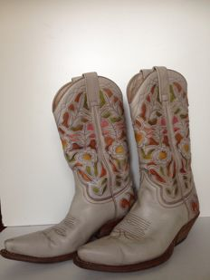 SENDRA - women's inlaid leather boots, various colours size 38 it