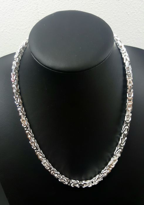 Silver king's braid necklace 925 kt, length: 50 cm, width: 5 mm, weight: 100 g
