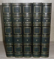 Eugène Scribe - Oeuvres complètes. New edition entirely revised by the author - 5 volumes - 1840 / 1845