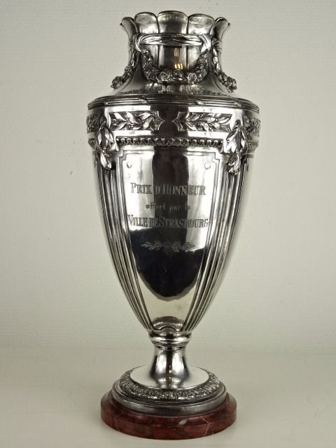 Christofle Gallia - Silverplated Trophy issued by city of Strasbourg - France - ca. 1920