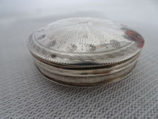 A silver tin of peppermints, the Netherlands, 1845 with fine engraving