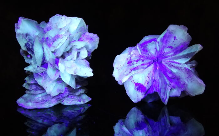 Two Gipsum Rose - UV Specimens - 6,0 to 6,2 cm - 206 gm (2)