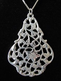 Silver Art Nouveau pendant - The Netherlands - 1929
