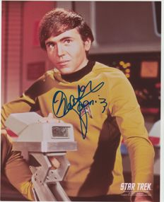 Star Trek TOS - signed 8x10 inch photo - autographed by Walter Koenig as Pavel Chekov