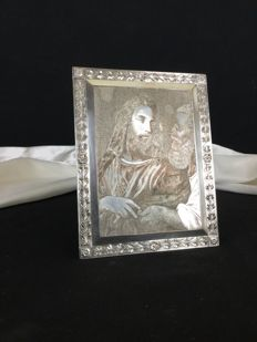 Jesus and a Pharisee, Silver Metal electroplating, France, 20th century
