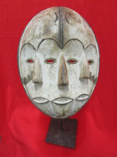 Mask with two faces - Kwele - Gabon - 2nd half of 20th century