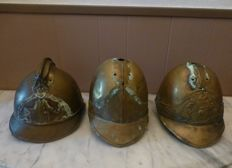 3 x copper helmets