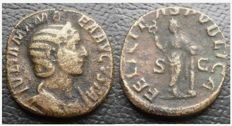 Roman Empire - Sesterzio of Julia Mamaea 222-235 AD