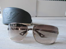 Armani - Aviator 9368 Zilver/Grey Edition Sunglasses