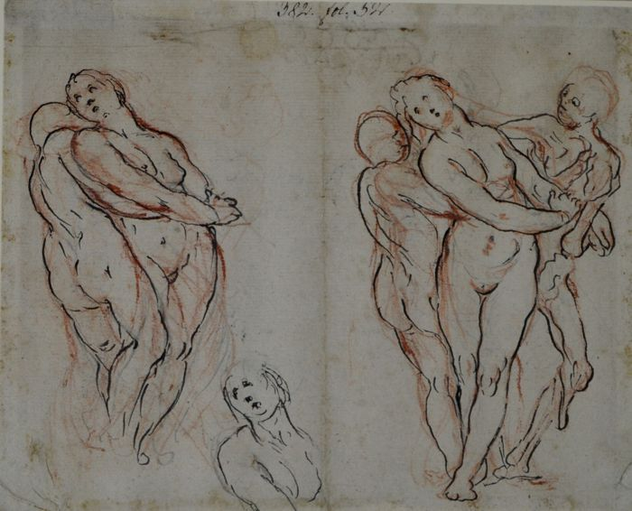 Circle of Jacob de Wit (1695-1754) - sketches of nudes