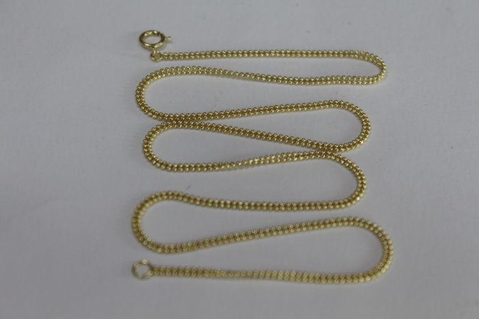 Ladies' necklace in 18 kt / 750 yellow gold, double ball model