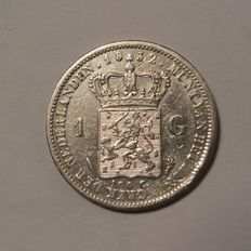 The Netherlands - 1 Guilder 1832, Willem I - silver