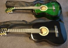 2x New Martinez classical guitar 3/4 classic, both with tuning whistle and cover