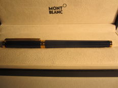 "Vintage Montblanc Noblesse ""Oblige"" blue roller with gold trims, in perfect conditions"
