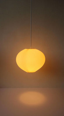 Designer unknown - plastic pleated pendant light, large size