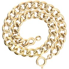 18 kt - Yellow gold curb link bracelet - length: 19.5 cm