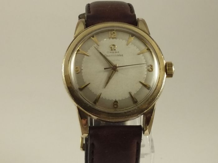 Omega gold filled men's watch-beefy lugs- bumper automatic 1950'