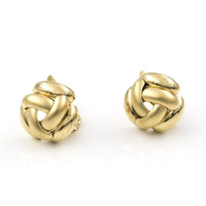 Yellow gold, 18 kt/750 - Earrings - Earring height: 11.50 mm
