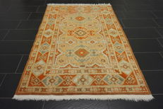 Exclusive antique hand-woven Persian palace carpet, Kazak Derbend Persian carpet 140 x 220 cm tapis tappeto carpet