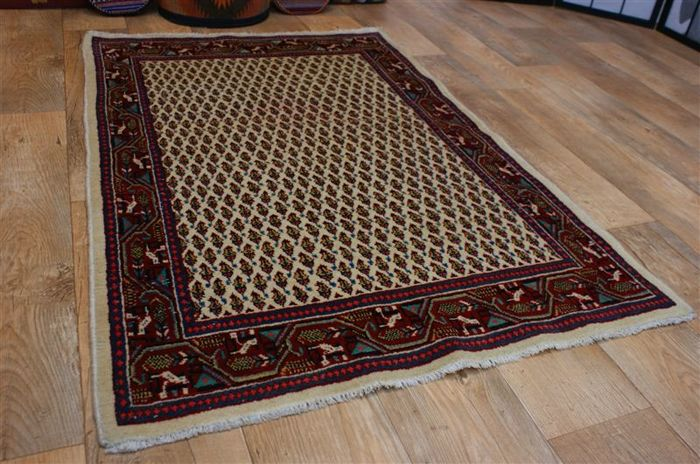 Original hand-knotted Persian carpet, oriental Sarough Mir, approx. 147 x 99 cm. Iran