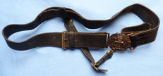 Original British WW1 Royal Navy Officer's Dress Belt and Buckle