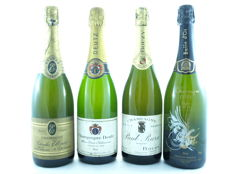Lot of Champagne Brut: Charles Ellner, Deutz, Paul Bara & Cuvée Bulle d'Or - 4 Bottles