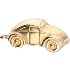 14 kt - Yellow gold pendant in the shape of a car - length x width: 2 x 0.3 cm