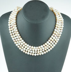 Long Baroque freshwater pearl necklace - model endless - 205 cm - No Reserve