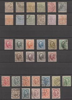 Luxembourg 1882/1906 - Selection of classic material, between Michel 45D and 83
