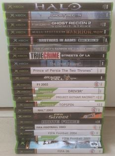 Lot of 21 XBOX games like Halo, Prince of Persia, Driv3r, Ghost Recon, Splinter Cell and more