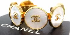 Vintage CHANEL bracelet - Gold plated - Chanel logos - Mother of pearl