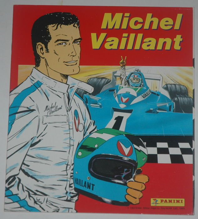 Michel Vaillant - Verzamelalbum Panini + 216 albumstickers + 18 metallic bonusstickers - Softcover - First edition - (1993)