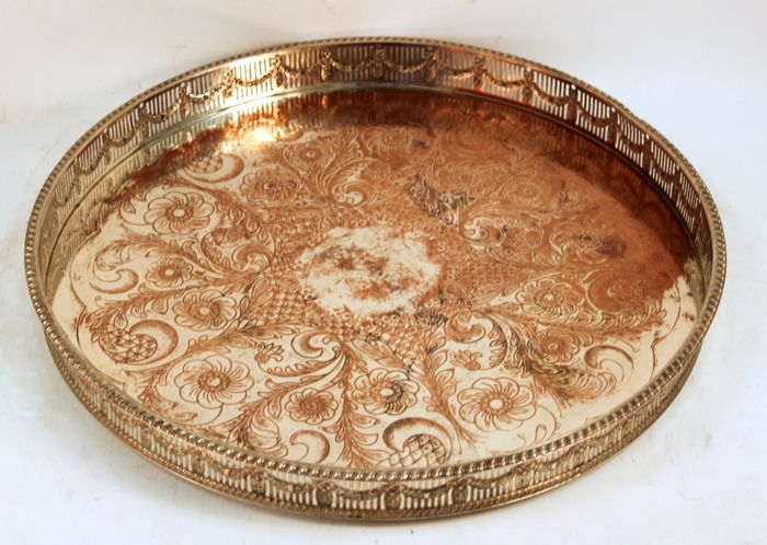 Antique Victorian Silver Plate Tray, Possibly by Viners LTD, Sheffield C.1880