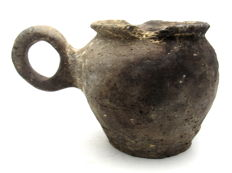 European Bronze Age Jug with Handle - 166 x 100 mm