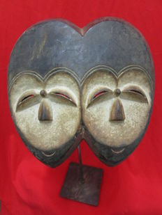 2 faced Ekuk mask - KWELE - Gabon