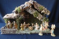 Nativity with Fontanini Christmas Group