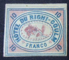 Switzerland 1870 - Privately manufactured stamp by Hotel Du Righi Coulm
