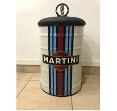 Porsche Lot with a Martini Barrel Chair With Leather Cushion and a Porsche Badge Martini Targa Florio